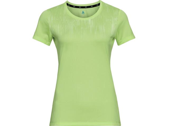 Odlo Element Light Print Crew Neck T-shirt Dames, groen